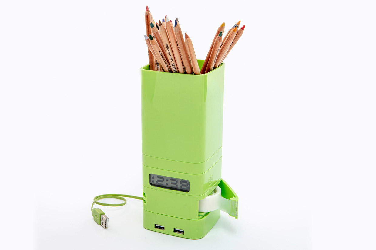 Totem Green with pencils tape USB